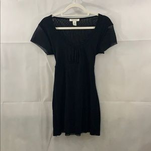 WHBM black short sleeve blouse